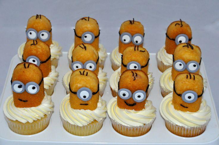Twinkie Minion Cupcakes Cupcakes For Kids Pinterest