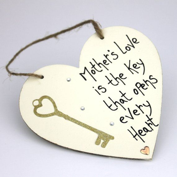 Mothers Day Gift From Daughter Mommy Plaque Mom Heart Gift