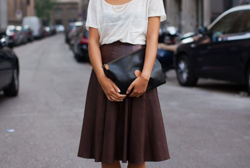 cute skirt: Brown Skirts, Fashion, Style Inspiration, Leather Skirts, Street Style