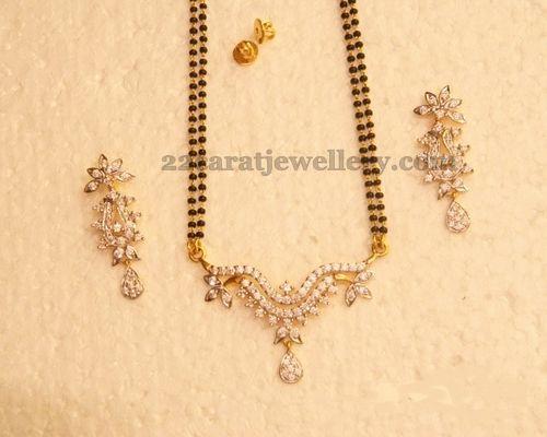 Jewellery Designs: 22k CZ Mangalsutra