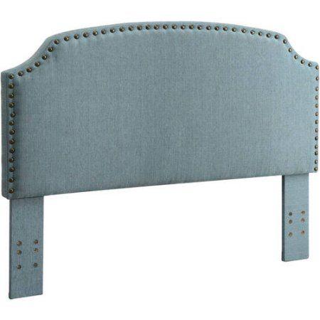 Furniture of America Nalyssa King Padded Fabric Headboard, Multiple Colors, Blue