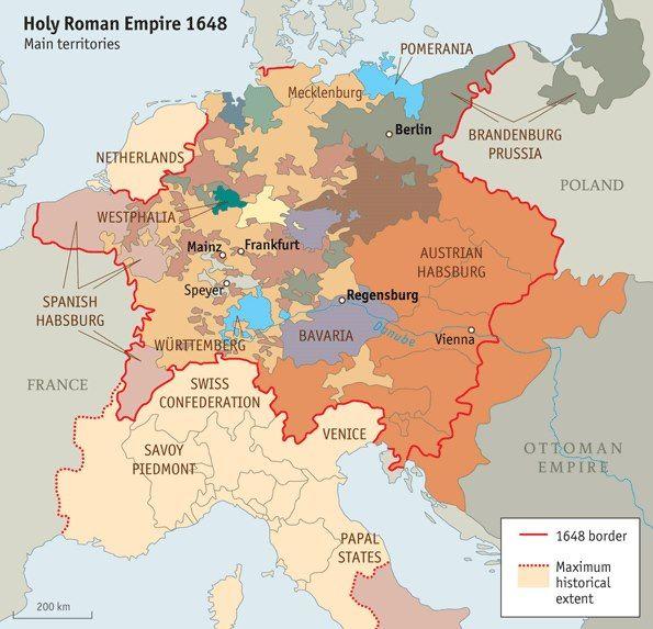 """The Holy Roman Empire The Economist Dec 22nd 2012 article """"The Holy Roman Empire : European disunion done right"""" Saint EMpire Germanique"""