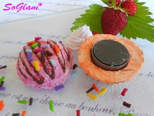 magnets, gourmand, fimo, glace,