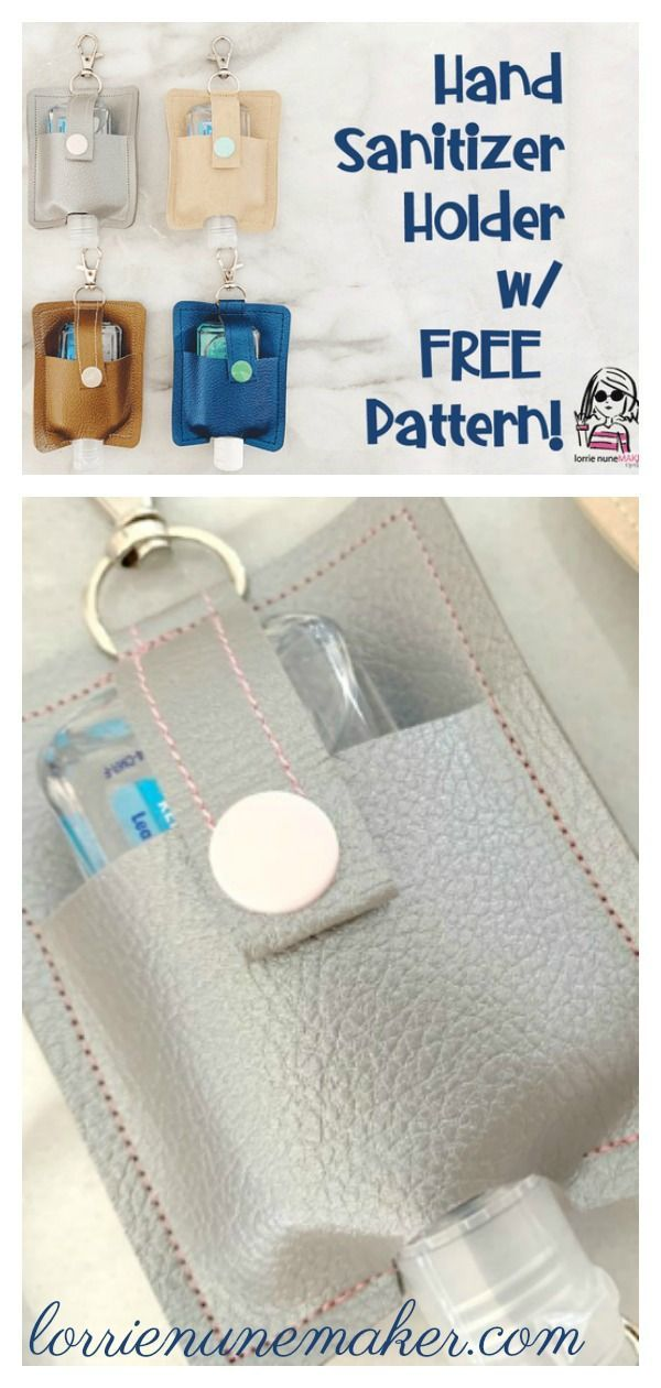 Hand Sanitizer Holder Free Sewing Pattern I 2020 Handarbejde