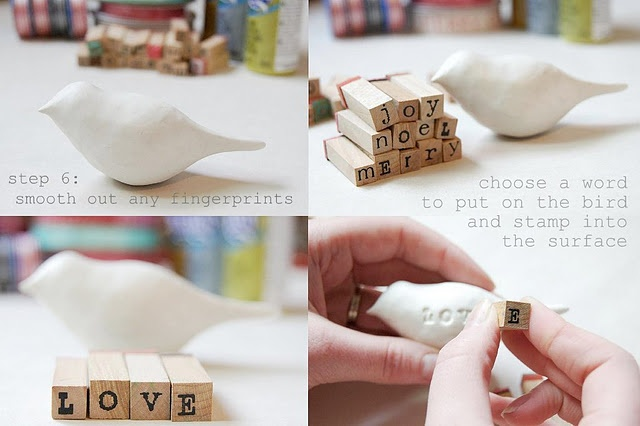 A tutorial of the most loved clay birds! These make great gifts for family members, newlyweds, or Baby's 1st Christmas ornaments!    Oh, Tina's gonna make these.  When in the world did I start calling myself Tina?  I need a doctor - STAT