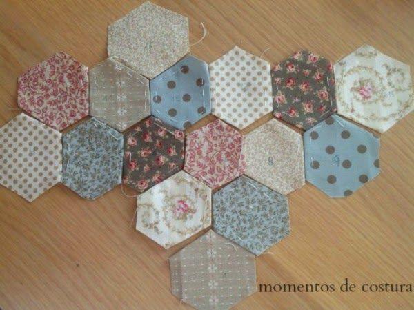 Momentos de Costura: Tutorial pequeño bolso hexágonos