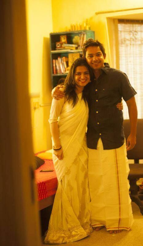 Divyadarshini with her fiance Srikanth