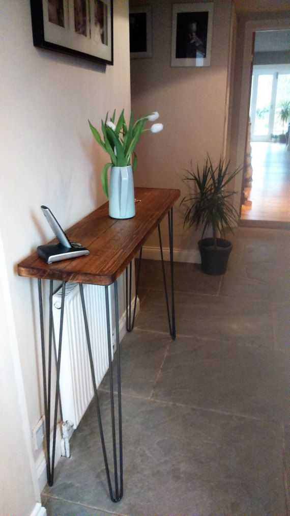 HALL CONSOLE TABLE   Vintage Retro Hairpin Leg Industrial