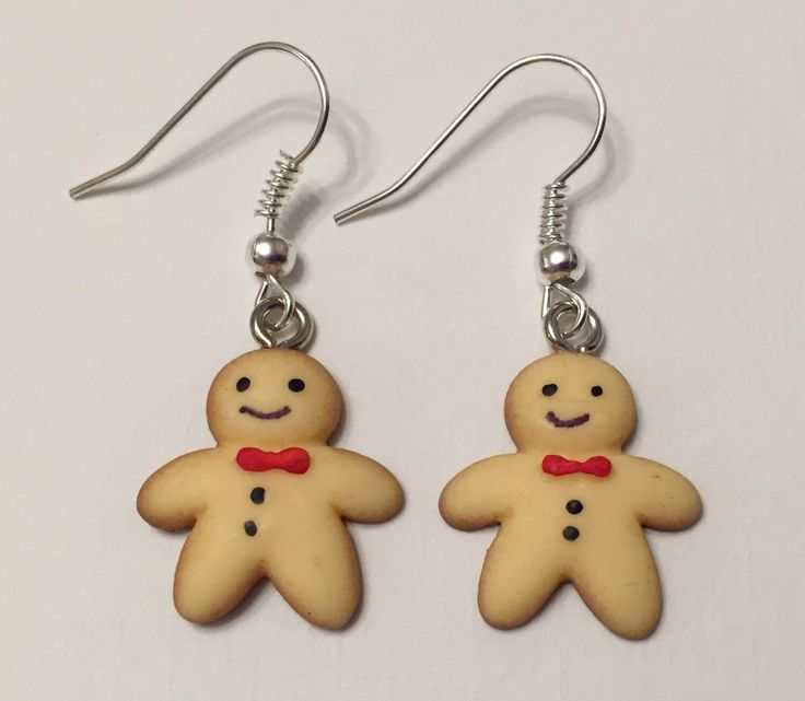 A personal favourite from my Etsy shop https://www.etsy.com/uk/listing/462782493/gingerbread-man-earrings-novelty