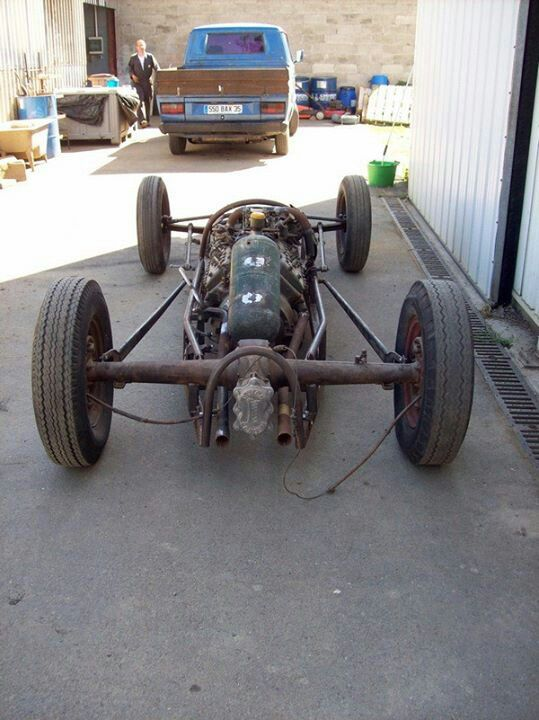 Rick Case Vw >> Rear of lakester chassis | Land Speed Racing | Bugatti cars, Cars, Old race cars