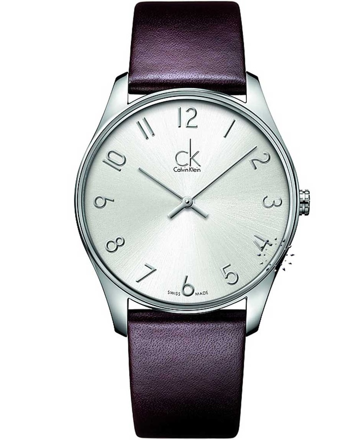 CALVIN KLEIN New Classic Brown Leather Strap, 154€ http://www.oroloi.gr/product_info.php?products_id=33651