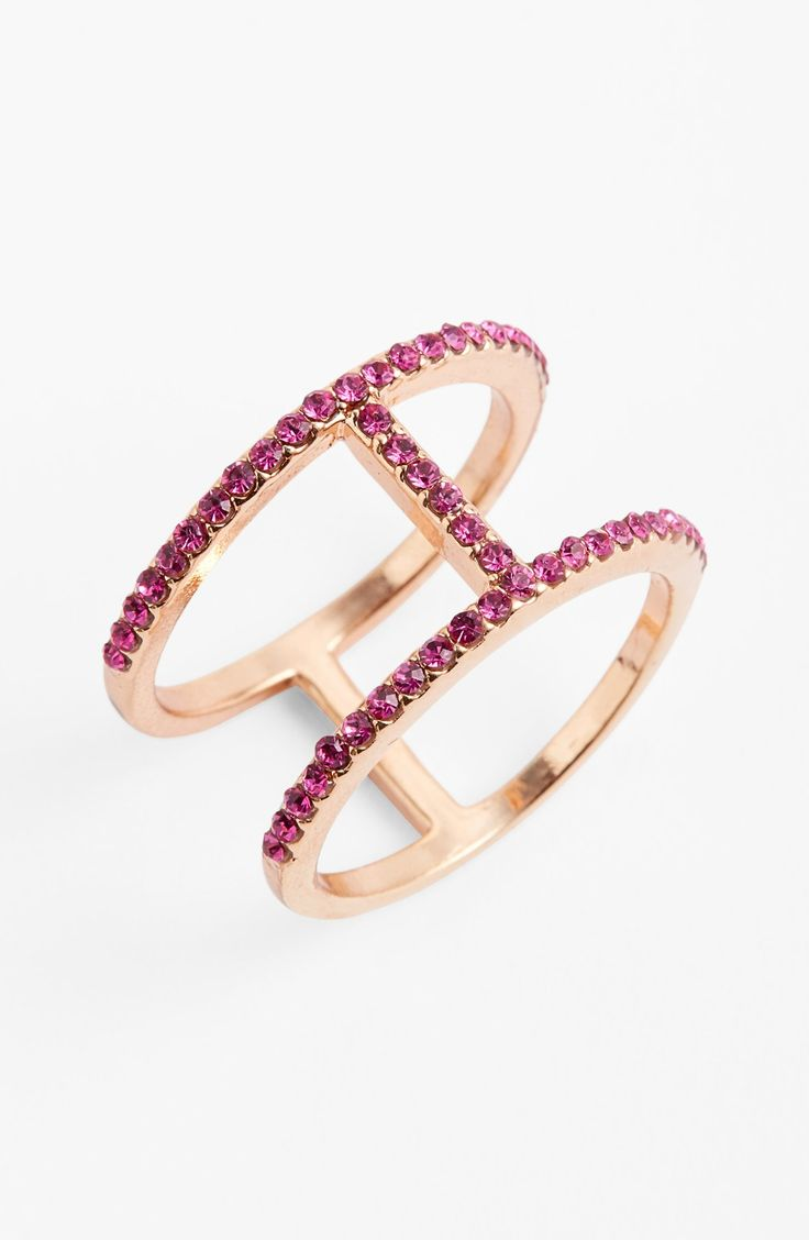 Yes, to a rose gold & pink crystal 'T' pavé ring.