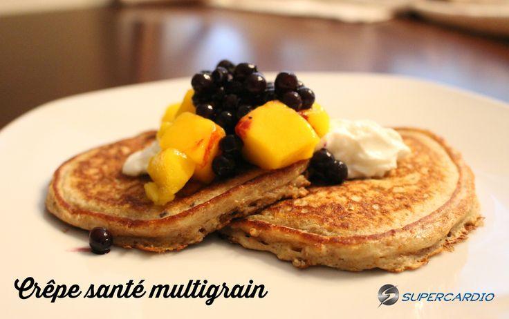 Voici une recette santé de crêpe multigrain approuvé 21 Day Fix : farine de blé entier, flocons d'avoine, son de blé, ... Un délice!