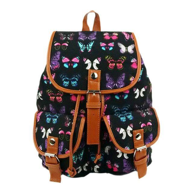 School Backpacks for kids for college Vintage canvas Rucksack 4 colors