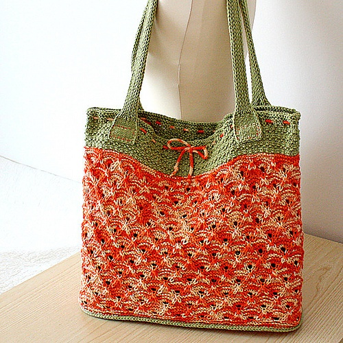 Knitted Tote Bag Pattern : 215 best Knit - Hand/Tote Bags images on Pinterest Knitting bags, Knitting ...