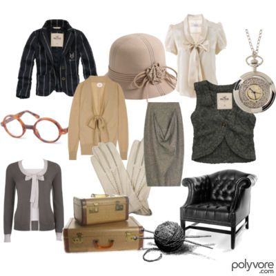 A sample spread of the clothes Miss Marple herself might be found wearing -- Ahah! Love it!