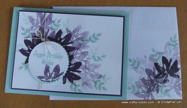 Birthday card using the Avant Guard stamp set by Stampin' Up! and 1st, 2nd and 3rd generation stampin