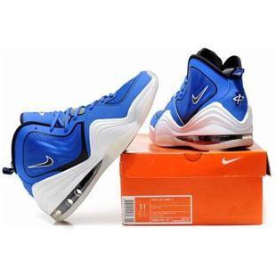 www.asneakers4u.com Nike Air Penny 5 Penny Hardaway Shoes Blue/White