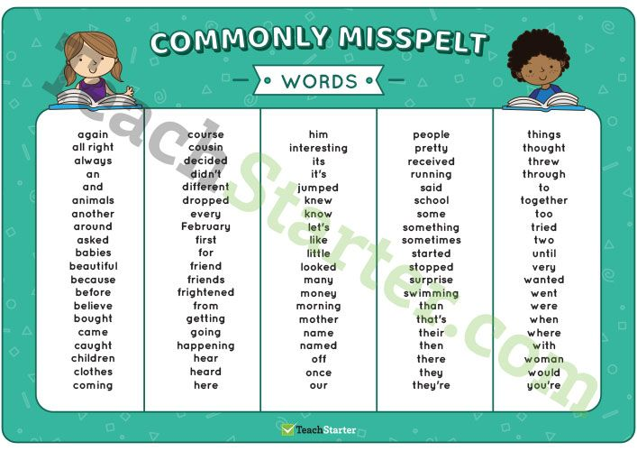 Teaching Resource: A Commonly Misspelt Words Dolch Sight Words Mat to assist students with their reading and spelling.