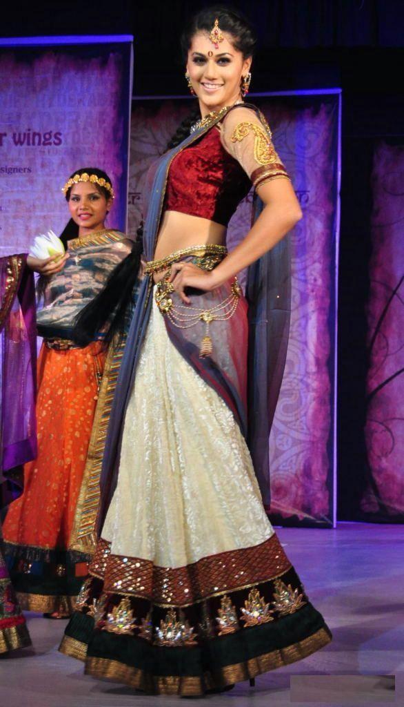 South Indian Half Saree   ... Traditional South Indian Half Saree at Tollywood Event   Indian Ramp