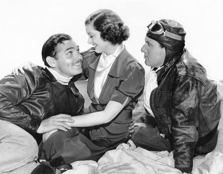 Gable is a pilot addicted to stunts and the bottle; Myrna is his wife; Spencer, his sacrificial pal. Description from dearmrgable.com. I searched for this on bing.com/images