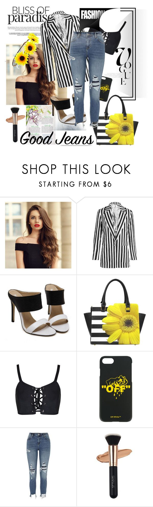 """""""Без названия #1596"""" by adigeeva on Polyvore featuring мода, Topshop Unique, Off-White, River Island и Forever 21"""