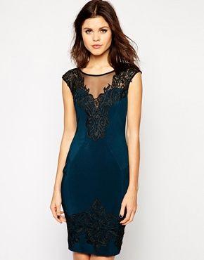 super cute pencil dress - love the lace trim