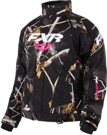 FXR Women's TEAM JACKET - CAMO (2015). http://www.upnorthsports.com/snowmobile/snowmobile-clothing/snowmobile-jackets/womens-jackets/fxr-womens-team-jacket-camo-2015.html