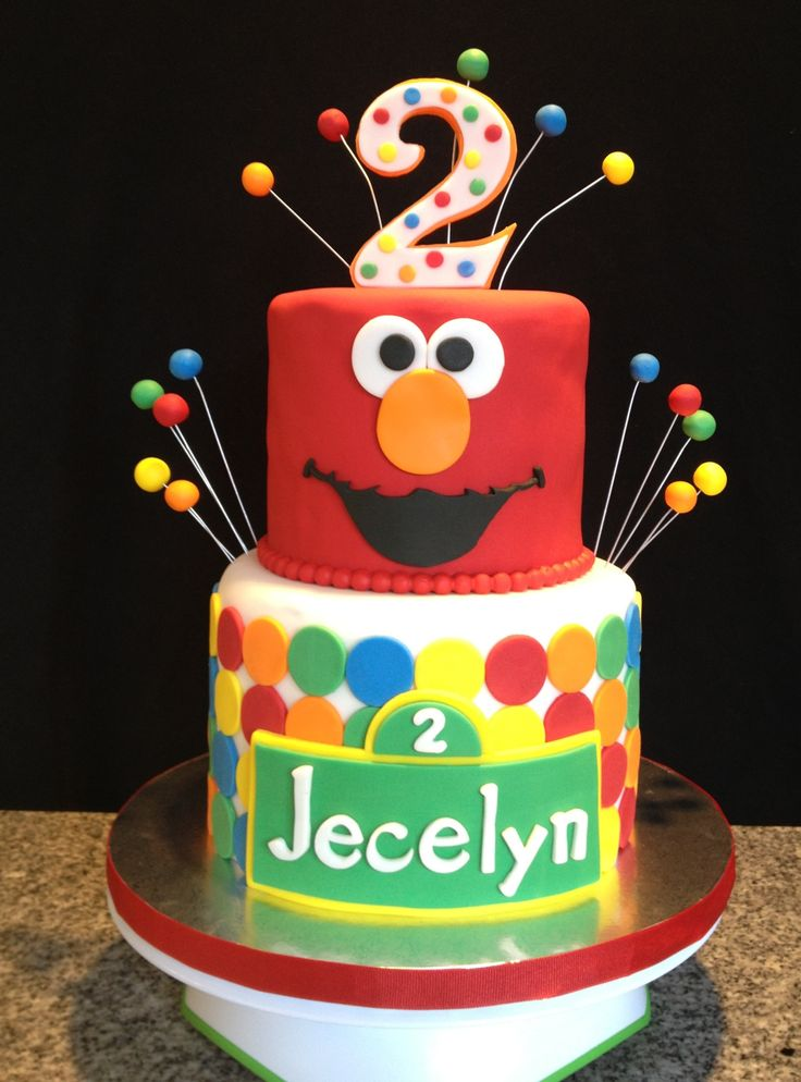 Images Of Elmo Birthday Cakes