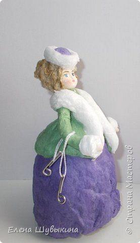 Куклы из ваты (елочные игрушки) фото 4
