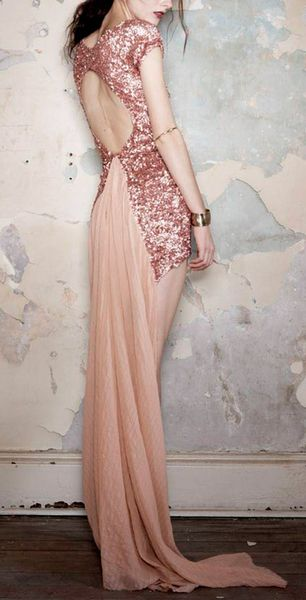 sequins in dusty pink