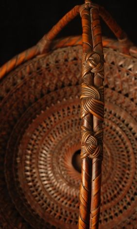 japanese bamboo basket | Galen Lowe Antiques : Detail; FRUIT BASKET/Morikago