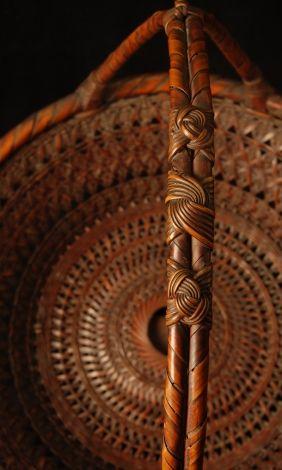japanese bamboo basket | Galen Lowe Antiques : Detail; FRUIT BASKET/Morikago