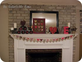 The Delectable Home: valentine's mantel {birds + B's}