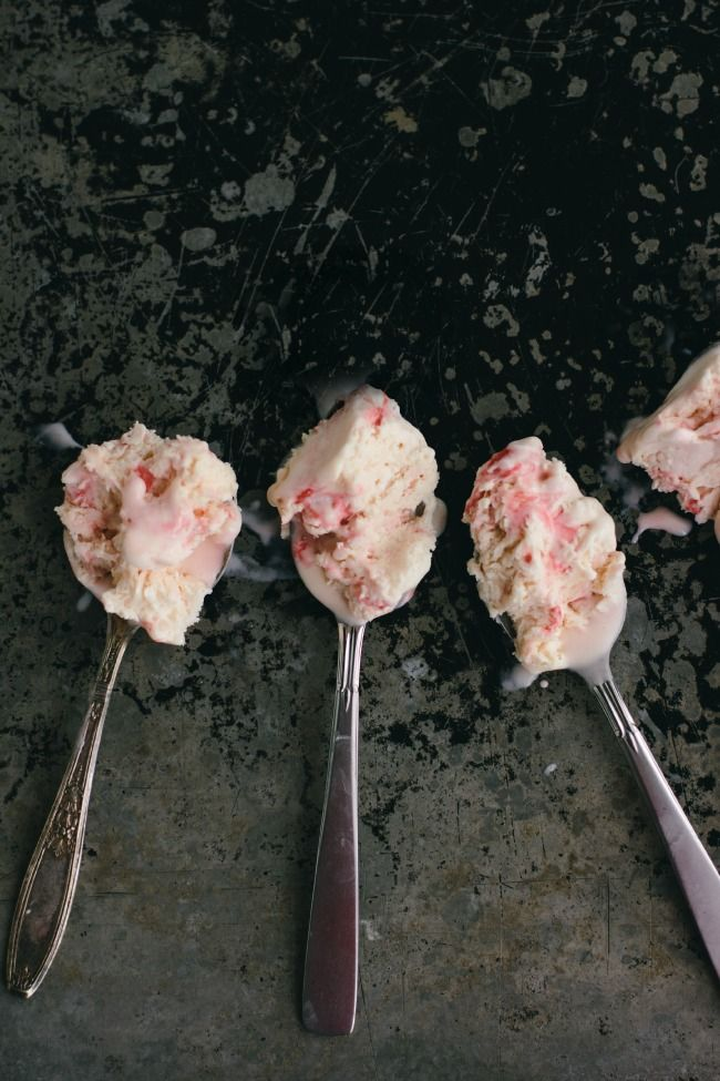 No-churn candy cane ice cream.