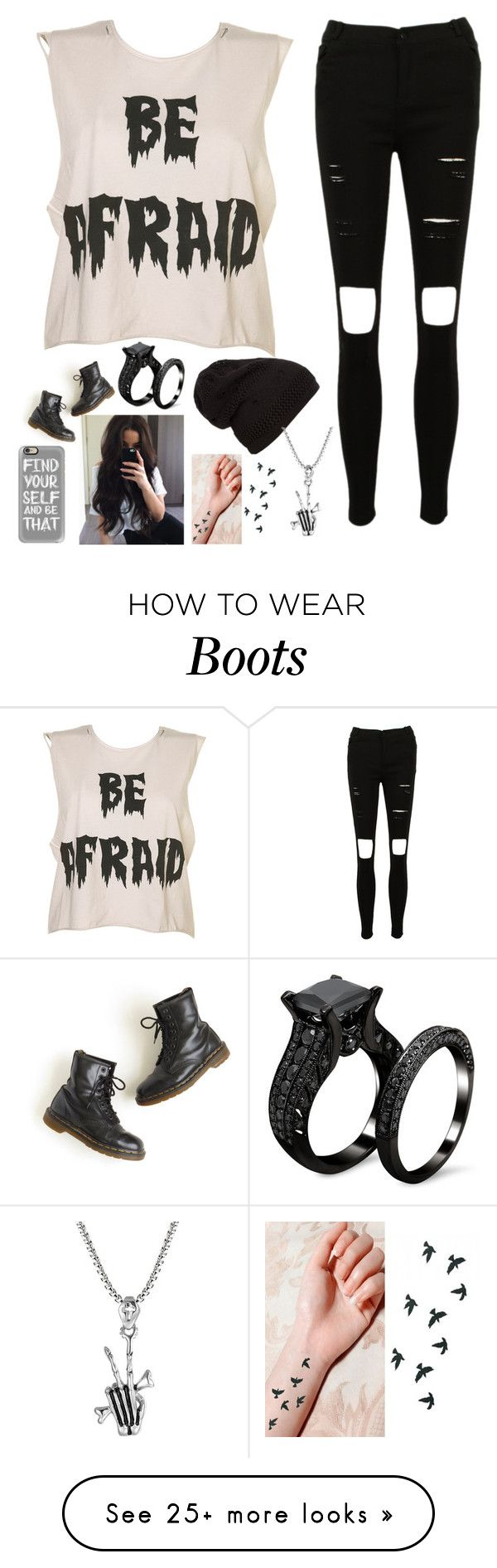 """Untitled #1760"" by tokyoghoul1 on Polyvore featuring Dr. Martens and Casetify"