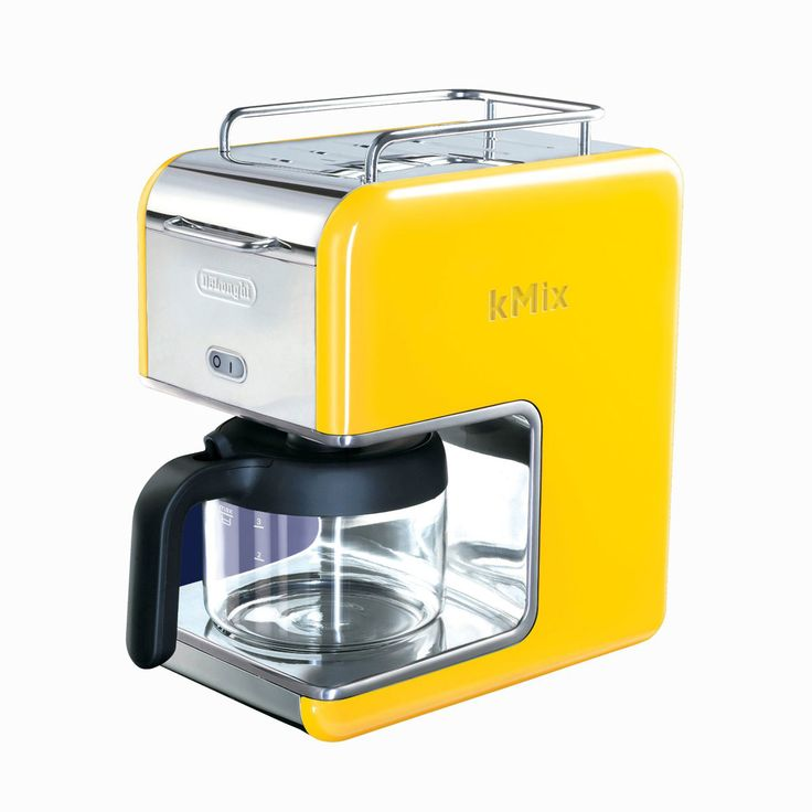 (Ah! This would match my kitchen perfectly!) 5-Cup Drip Coffee Maker - Yellow | dotandbo.com