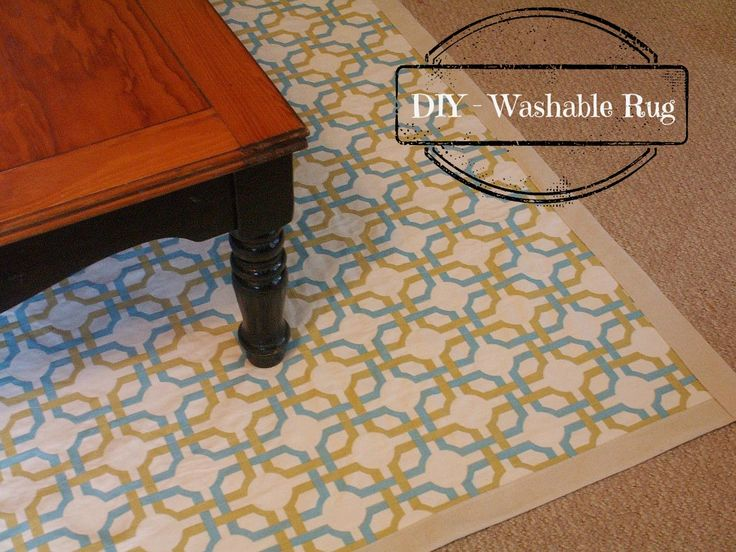 DIY Washable Rug