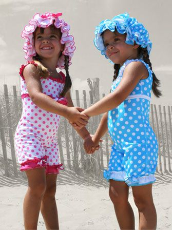 These Vintage Bathing suits for little girls are precious. Bringing back innocence. Love it.