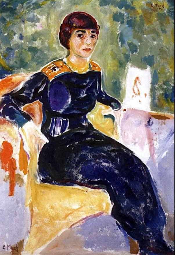 Portrait of Elsa Glaser, 1913 by Edvard Munch (Norwegian 1863–1944)