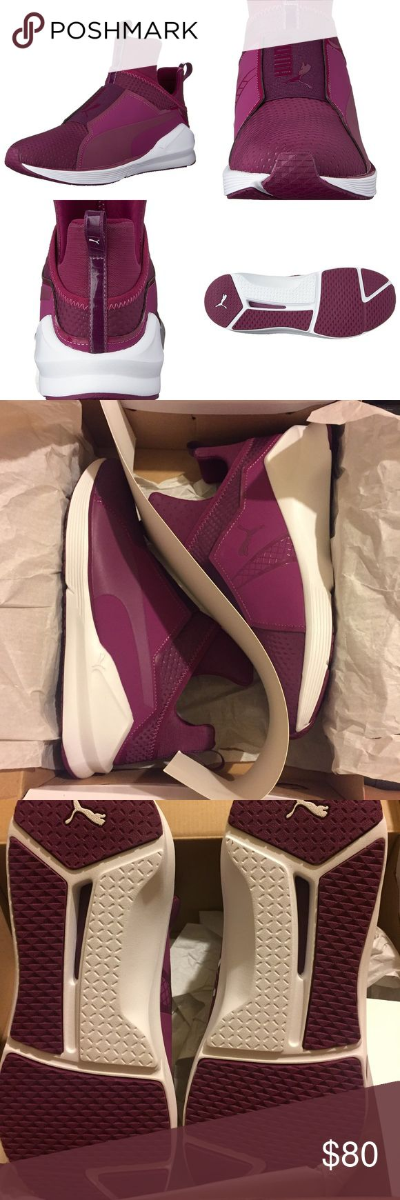 NEW PUMA FIERCE QUILTED MAGENTA PUTPLE WMNS 8 New with box. Authentic. Color is magenta purple. Women's size 8. These shoes do not have shoe laces. No defects. Puma Shoes Sneakers