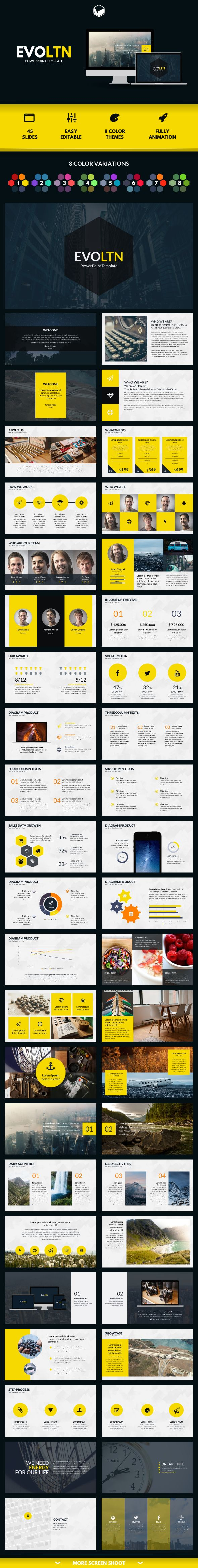 PowerPoint Template #design Download: http://graphicriver.net/item/evoltn-powerpoint-template/11823375?ref=ksioks