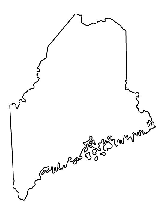 state of maine outline