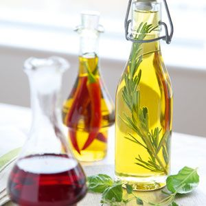 INFUSED OLIVE OILS –  jack up your cooking big time – put fresh, hot red chillies or dried chillies into a bottle of olive oil, (puncture them with a pin so they sink), or use sprigs of herbs like rosemary, thyme or sage, or a couple of  smashed garlic cloves or pieces of citrus zest and leave to infuse for a couple of weeks. These make great gifts!