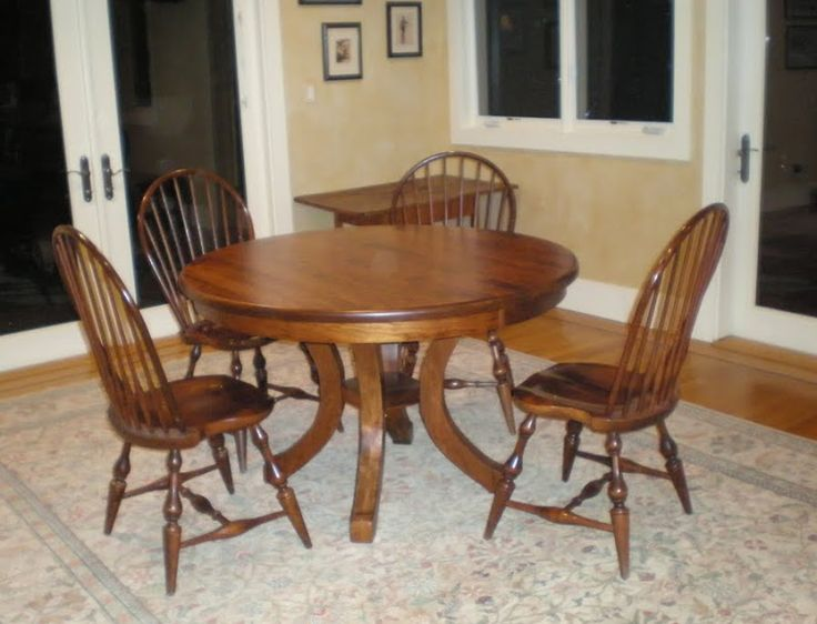 48 inch diameter round montrose dining table and missouri chairs in