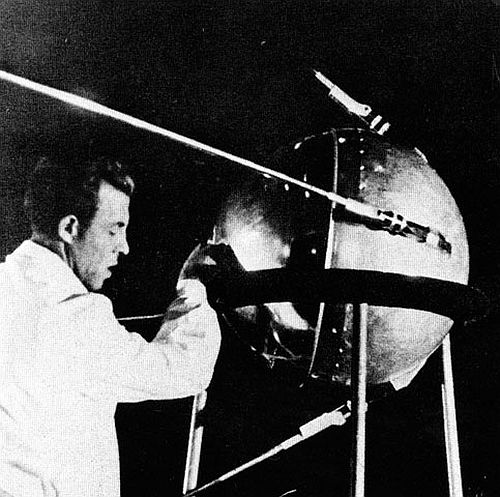 Sergei Korolev, the engineer behind the 184-pound Soviet Sputnik satellite, was not credited by name until after his death. Photo credit: Courtesy NASA Sputnik was launched October 4, 1957
