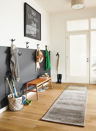 Love the hooks for a narrow entryway. Entryway - Room & Board
