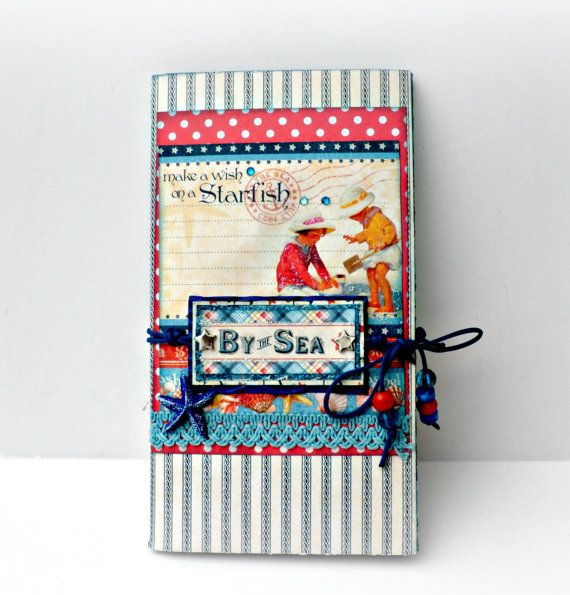 Scrapbooking mini albumBy the sea folio. Blue by sweetpaperlife