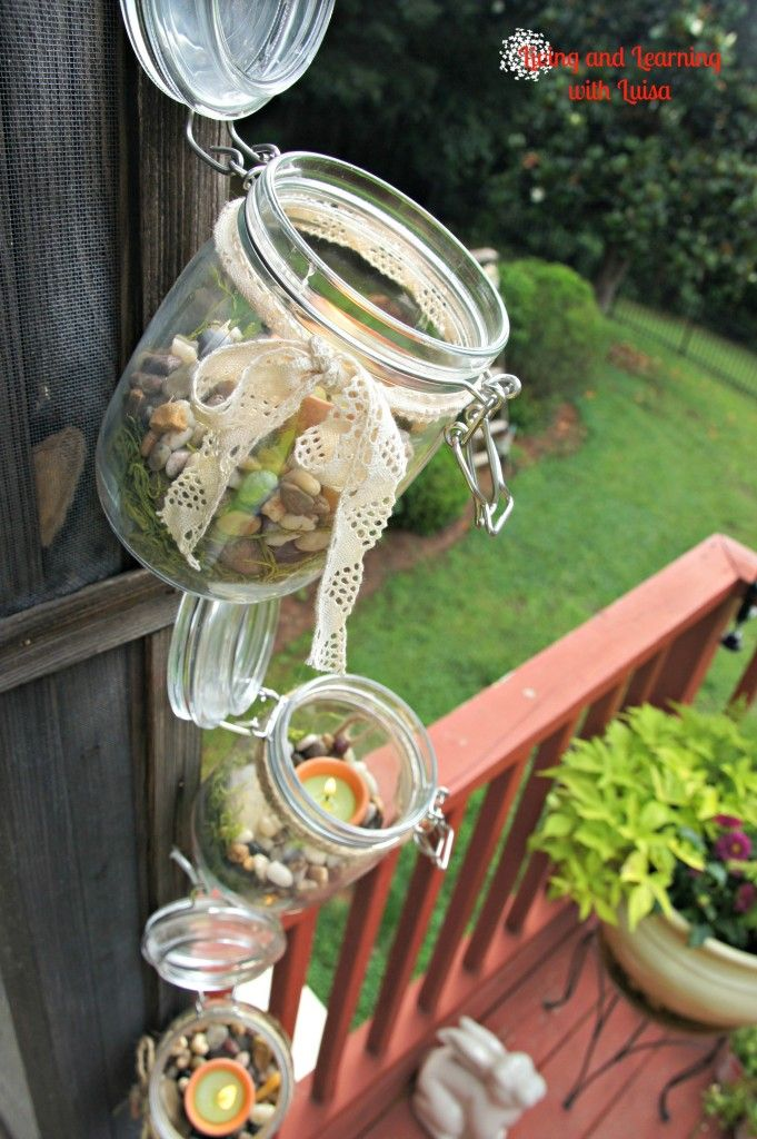 COUNTRY LIVING CAMPING PICTURES   Outdoor hanging candle holders at Living and Learning with Luisa are ...