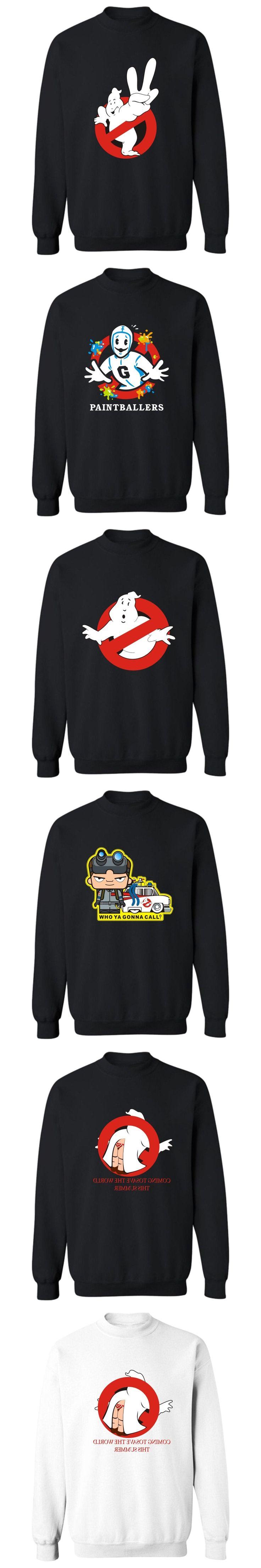 Ghostbusters Harajuku Capless Sweatshirt Men Hip Hop Fashion Casual Mens Hoodies And Sweatshirts Funny RPG Game 4 Color Clothes